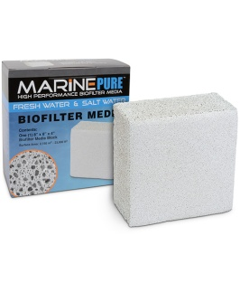 "Cermedia MarinePure High Performance Biofilter Media - Block (8"" x 8""x 4"")"
