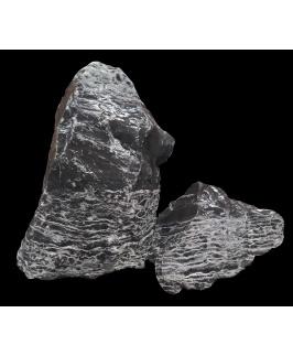A.P. Natural SAMPLE BOX - Black & White Thin Line Stone (20kg Box)